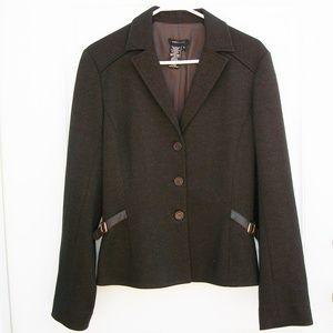 BCBG Dark Brown Riding Blazer Jacket SZ 8 M